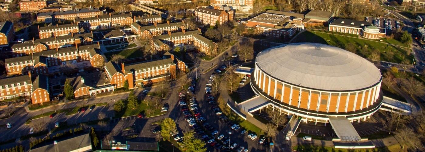Aerial Picture of Ohio University in Athens Ohio