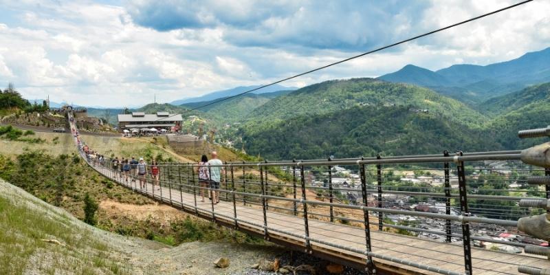 Gatlinburg Tennessee Suspension Bridge October