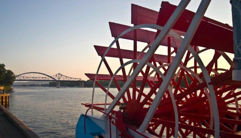 La Crosse Queen Steamboat on Mississippi River